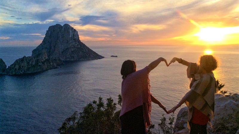 Zelfliefde loslaat oefening Es Vedra retreat Ibiza
